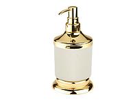 Дозатор для жидкого мыла KUGU Versace Freestand 230G (латунь, золото, керамика)(Бесплатная доставка  )