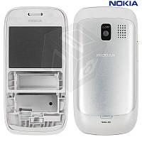 Корпус для Nokia Asha 302, оригинальный (белый)
