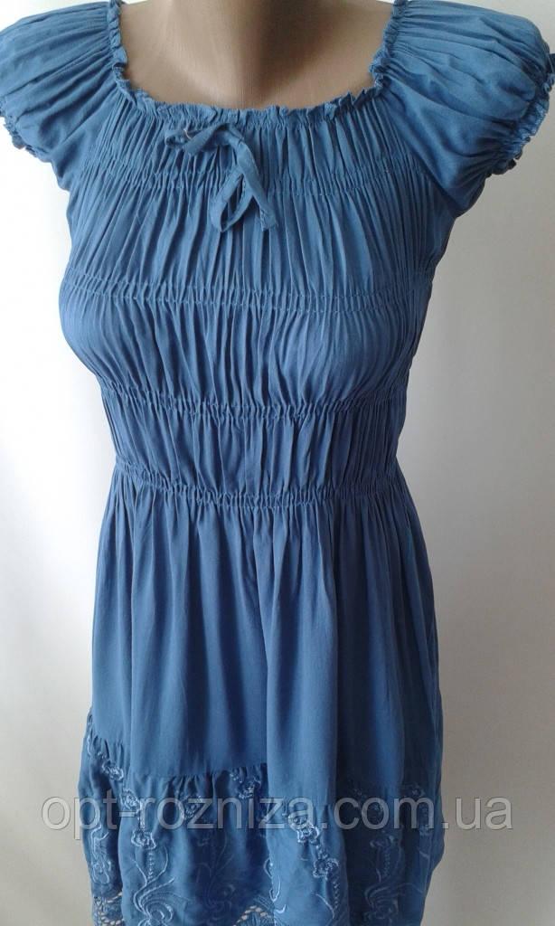 Однотонные красивые платья с вышивкой