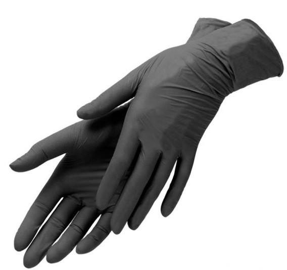 Перчатки нитриловые черные SafeTouch  BLACK NaviStom