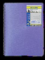 Блокнот А6 80л METALLIC пружина сбоку, пластик. обл.