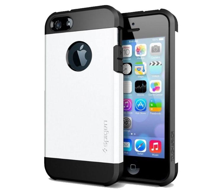 Противоударный бампер Spigen для Apple iPhone 5/5S/5SE White