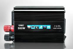 Преобразователь UKC авто инвертор 12V-220V 500W