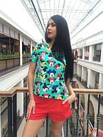 Женский костюм Микки с красными шортами л-500046