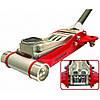 Домкрат подкатной алюминиевый 3,0т низкопрофильный HEAVY DUTY с двойной помпой T830002L
