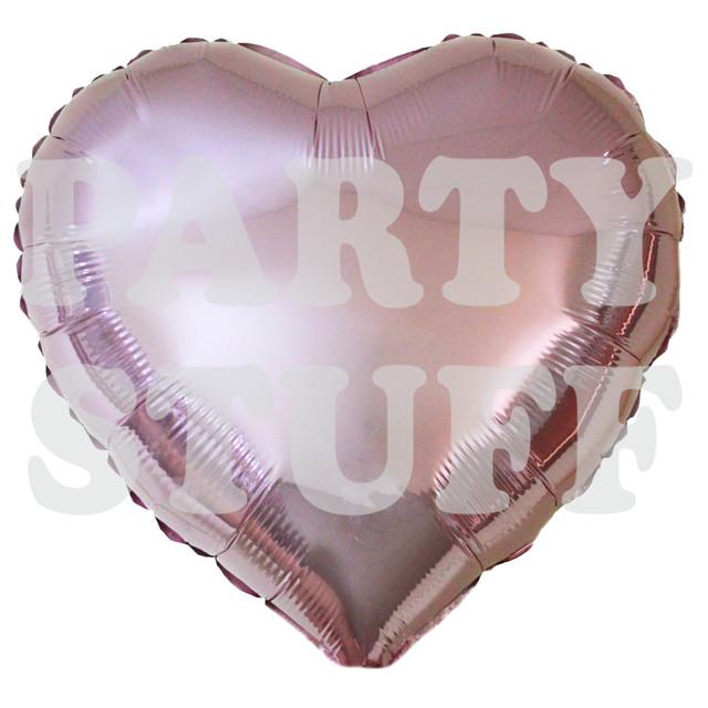 фольгированное сердце светло-розовое