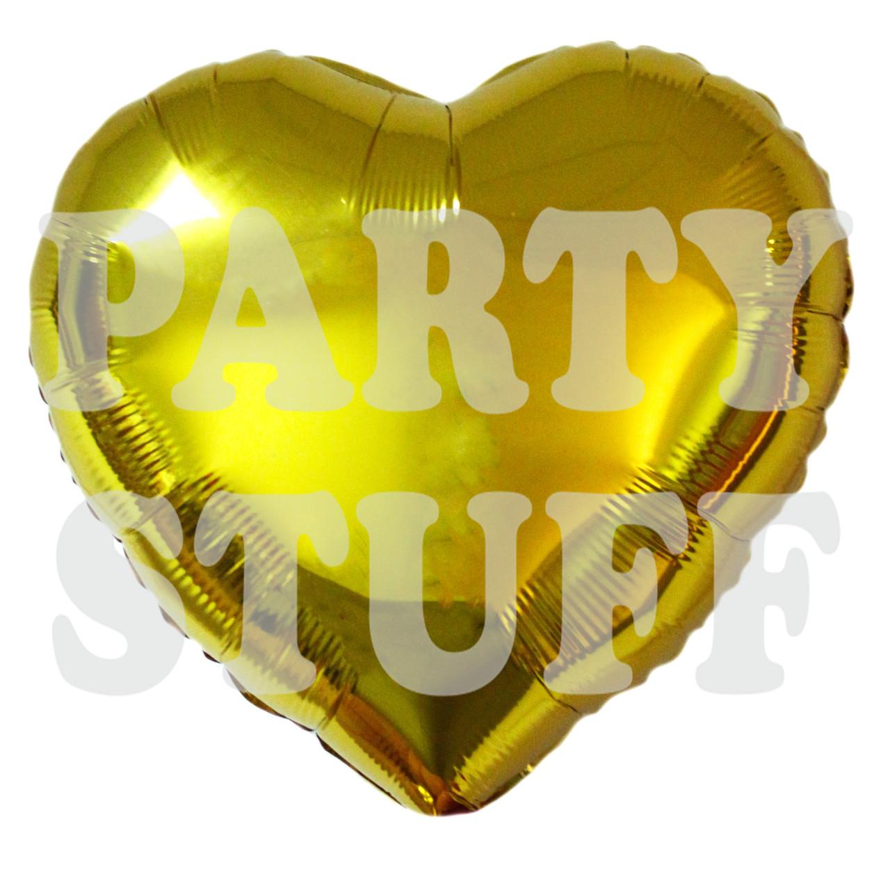 Фольгированный шар 18' Китай Сердце золото, 45 см