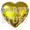Фольгированный шар Сердце золотой, 44 см