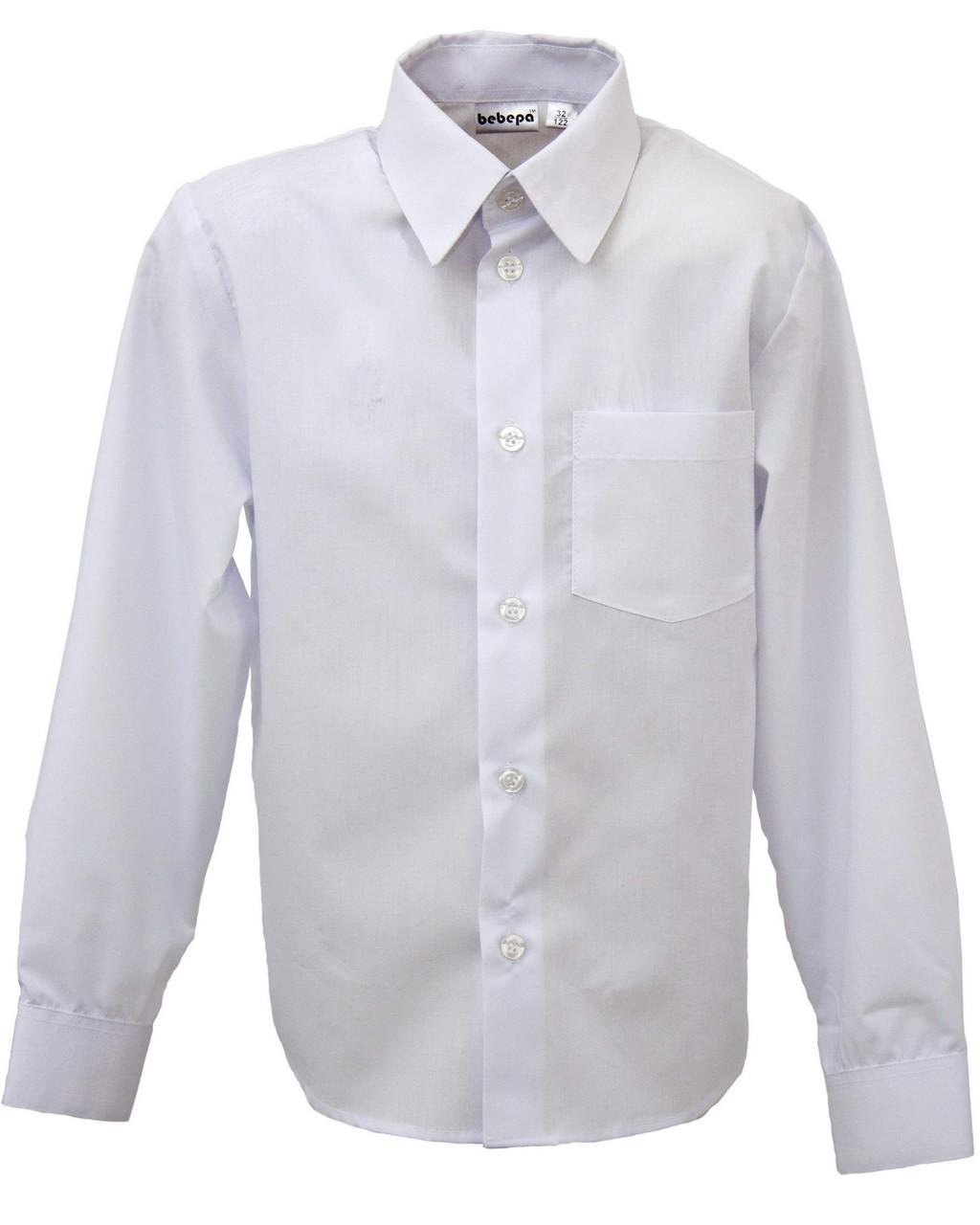 226b1c7ab96 Школьная рубашка для мальчика с длинным рукавом