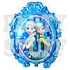 Фольгированный шар Холодное сердце голубой, 70 см