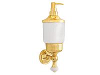 Дозатор для жидкого мыла KUGU Pan 014G (латунь, золото, керамика)(Бесплатная доставка  )