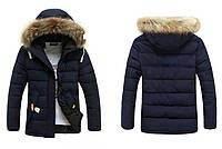 Мужской зимний пуховик-куртка. Модель 710, фото 3