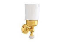 Стакан для зубных щеток KUGU Pan 006G (латунь, золото, керамика)(Бесплатная доставка  )