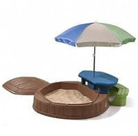 Детская песочница со столиком и зонтиком Step2 (8437)