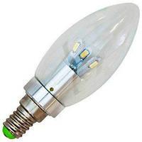 Лампа светодиодная для декоративного освещения LB-70 230V/4W  340Lm Chrome E14 4000K, Feron