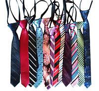 Краватка шкільний дитячий на кнопці, асорті