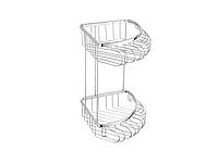 Полка для ванной комнаты KUGU 218С (латунь, хром)(Бесплатная доставка Новой почтой)