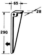 Толкатель соломы пресс-подборщика IHC, 290мм