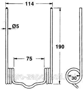 Пружинный палец на Case-IH, MC CORMICK,  F220, F200