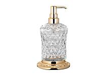 Дозатор для жидкого мыла KUGU Odeon Freestand 430G (латунь, золото, стекло)(Бесплатная доставка  )