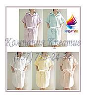 Тёплый халат с короткими рукавами унисекс под заказ (от 50 шт.)