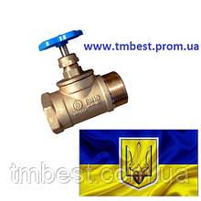 """Вентиль 1/2"""" ДУ 15 ВН латунный"""