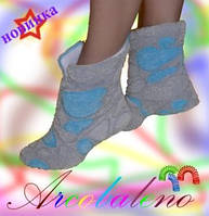 Махровые тапочки сапожки Тедди, фото 1