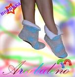 Махрові тапочки, чобітки Тедді, фото 2