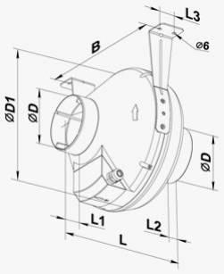 Габариты (размеры) канального вентилятора Вентс ВК 315