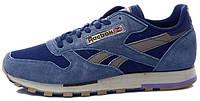 Мужские кроссовки Reebok Classic Suede (рибок классик) синие