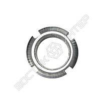 Гайка М16 ГОСТ 11871-88 круглая шлицевая, фото 2