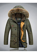 Теплая мужская зимняя куртка. Модель 713, фото 4