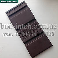 Карнизная подшивка АйДахо - коричневый (с перфорацией и без)