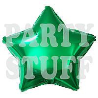 Шарик фольгированный Звезда зеленый, 44 см