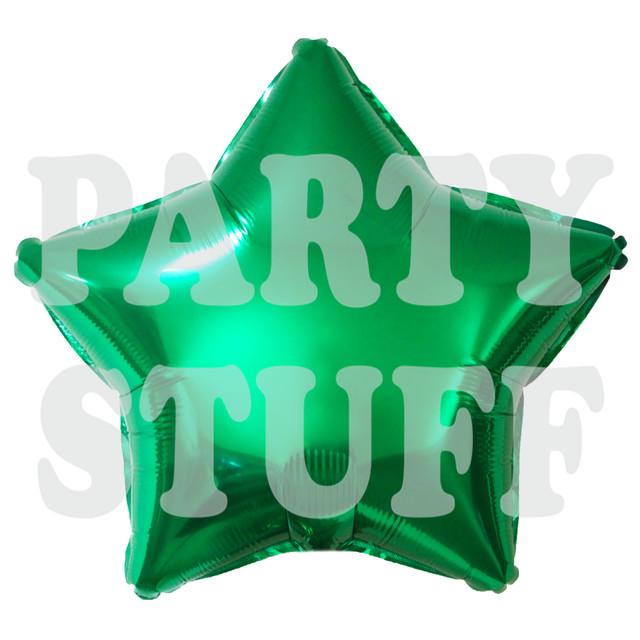 звезда фольгированная зеленая