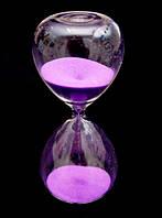 """Песочные часы """"Колба"""" Фиолетовый песок 16 см."""