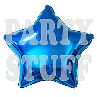 Шарик фольгированный Звезда синяя, 44 см