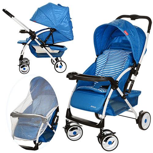 Детская прогулочная коляска A-58-4 синяя