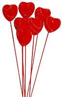 Букет сердец, набор 7 шт. на свадьбу, декор