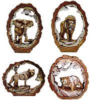 Статуэтки животных на полку в ассортименте 70х100х20мм
