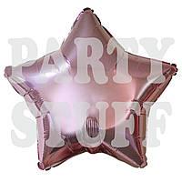 Шар фольгированный Звезда светло-розовый, 44 см