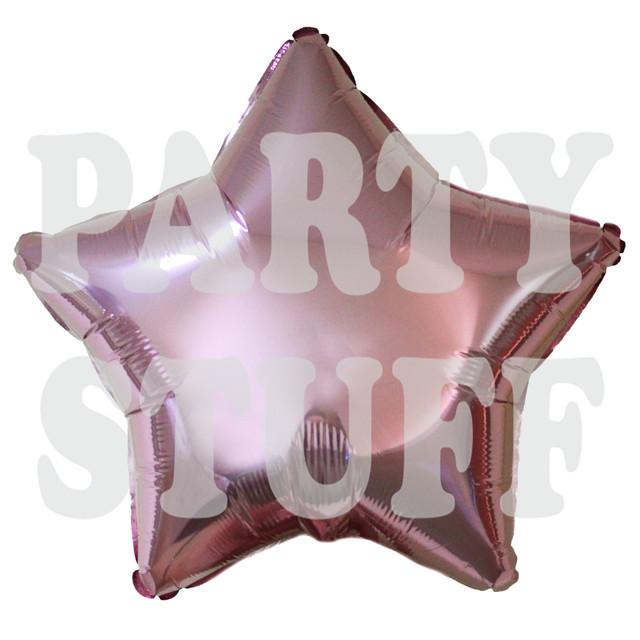 звезда фольгированная светло-розовая