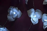 Гирлянда на батарейках - 30 огромных пушистых орхидей