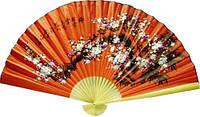 Веер из бамбука, настенный, 90 см цвета в ассортименте