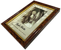 Рамки для фотографий (10х15см) коричневые с разводами