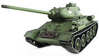 Танк на радиоуправлении с пневмопушкой и дымом Heng Long T-34 2.4GHz 1:16 (танки на пульте управления)