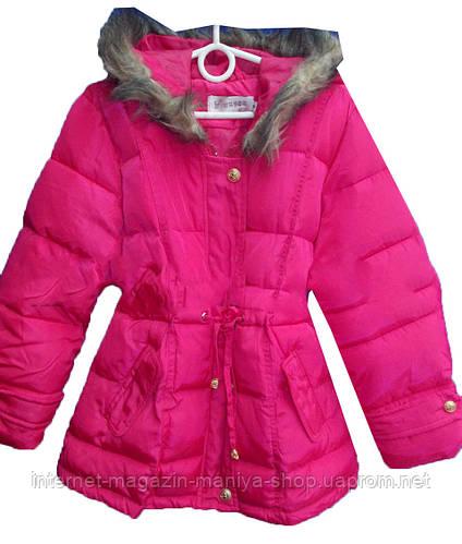 Детская куртка на девочку (4-10 лет). Осень