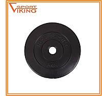 Блин для штанги или гантелей 5 кг (битумный), фото 1