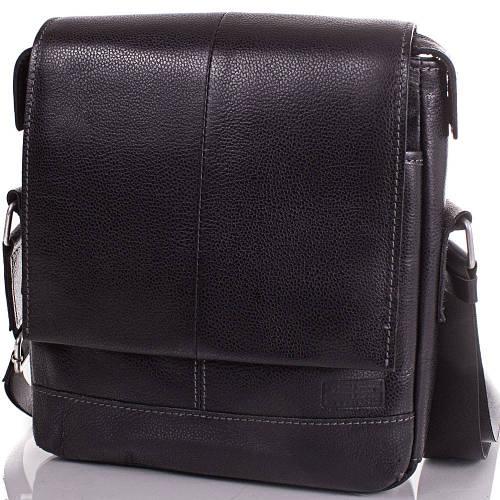 Мужская сумка из натуральной кожи ETERNO (ЭТЭРНО) ERM219B черный