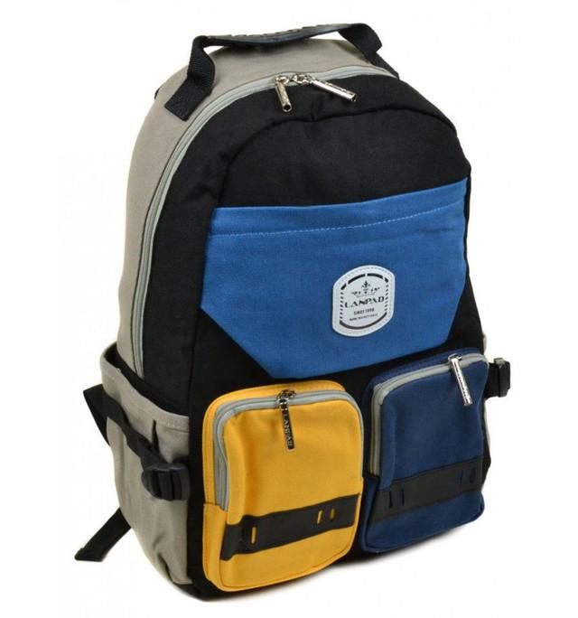 Мужской рюкзак с разноцветными карманами